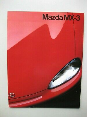 Mazda MX3 prestige brochure Prospekt text Dutch 20 pages 1991