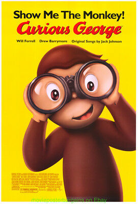 CURIOUS GEORGE MOVIE POSTER Original  Rolled DS 27x40 Animation Film 2006