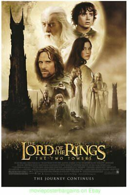 LORD OF THE RINGS THE TWO TOWERS MOVIE POSTER Rare Original DS 27x40 N. MINT !!!