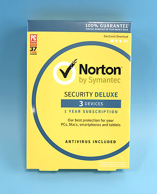 Norton By Symantec Security Deluxe - 3 Devices -Win / Mac /Android / iOS #3081