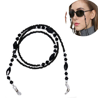 Beads Beaded Eyeglass Cord Reading Glasses Eyewear Spectacles Chain Holder LE