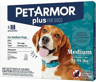 PetArmor Plus Flea & Tick Treatment for Dogs 23-44 lbs - 3 Month Supply NIB!