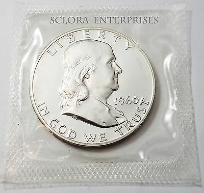 1960 Ben Franklin Half Dollar *uncirculated 90% Silver Proof* **free Shipping**