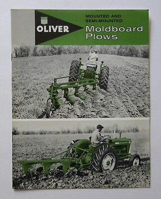 1960 Oliver No. 3241 6240 5440 Mounted And Semi-Mounted Moldboard Plow Brochure