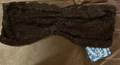 8747af3f83d Intimately FREE PEOPLE Essential Lace Bandeau Bra in Black NWT Small