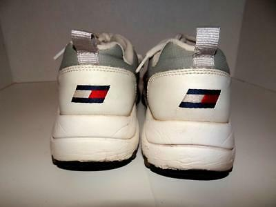 3cc1c6f740e1c3 Vtg 90s Tommy Hilfiger Men s Size 7.5M Tennis Shoes Sneakers Flag Logo  Spell Out