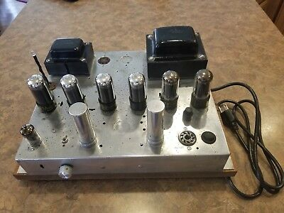 Magnavox Mono Tube Amplifier 142AA (Recap done) Plug and Play wood base.
