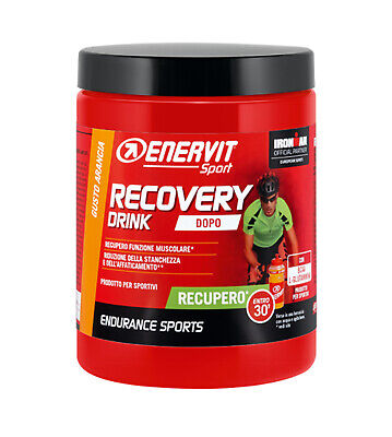 ENERVIT SPORT RECOVERY DRINK (R2) 400g GUSTO ARANCIA RECUPERO RUNNING CICLISMO