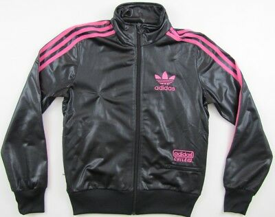d00dd5993170 Adidas Originals Chile 62 wet look black tracksuit track top jacket womens  36