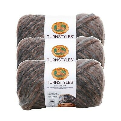 Pack of 3 Skeins Lion Brand Yarn 933-209 Totally Tubular Yarn Barnacle