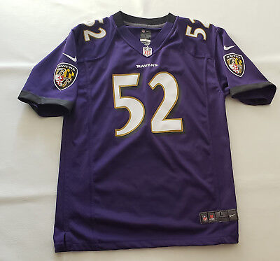 c9d53277d Ray Lewis #52 Baltimore Ravens Nike NFL On Field Jersey w/ Graphics Large 14