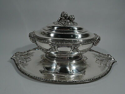 Belle Epoque Tureen on Stand - Antique Classical - French 950 Silver - Roussel