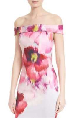 673bb630c TED BAKER Expressive Pansy floral print bardot bodycon dress wedding party  2 10