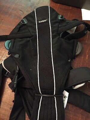 Baby Bjorn Active Synergy Baby Carrier Black Mesh Back Lumbar Support Infant