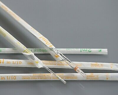 1ml, 2ml, 5ml, 10ml, 25ml, 50ml Serological Pipettes