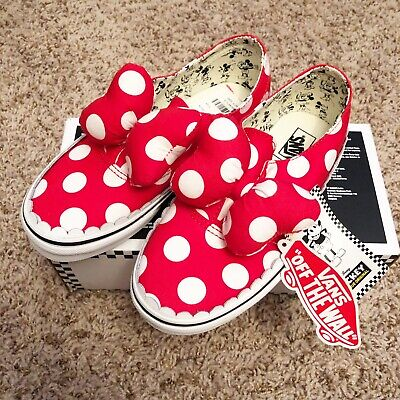 be6f729359 Vans Authentic Gore Disney Minnie Mouse Bow Minnie s Girls Size 2 Shoes Kids