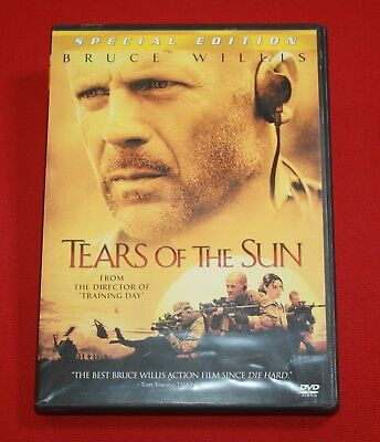 TEARS OF THE SUN (DVD, 2003, Special Edition) BRUCE WILLIS, MONICA BELLUCCI