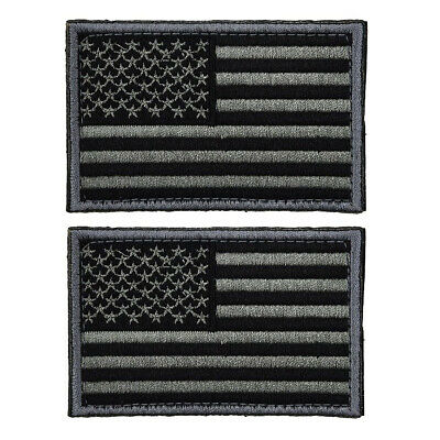 2pcs Tactical USA Flag Patch Self-Adhesive American Flag US United States
