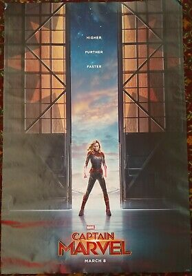 CAPTAIN MARVEL Orig Movie Poster 27x40 2-Sided Authentic Teaser Vers