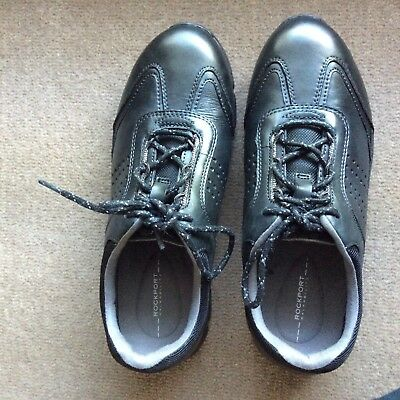 Brand NEW ROCKPORT Walkability Black Leather Walking Shoes US 5 EUR 35 CM 22
