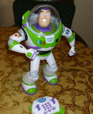 "Toy Story 3 Buzz Lightyear Ultimate Voice Command 15"" in. with RC Remote Control"