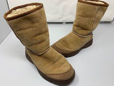 48d9fa3c138 UGG ULTIMATE SHORT 5275 Chestnut Women's Boots Size US 6W USED PULL UP