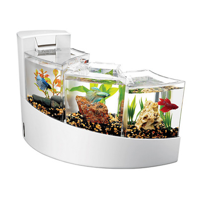 Betta Fish Tank Aquarium Cascading Waterfalls Kit Fish Ornament Decor Shrimp