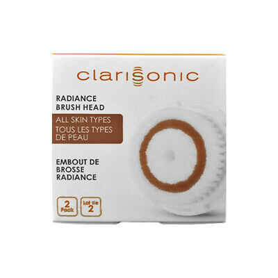 New Clarisonic Radiance Facial Cleansing Brush Head Replacement Two / Twin Pack