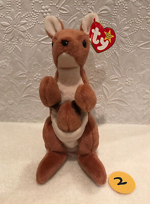 93c2332fa0b TY BEANIE BABY ~ POUCH the Kangaroo (7 Inch) MWMT -  9.90