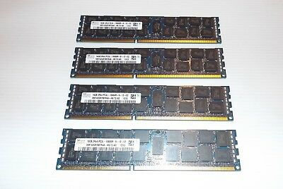 4x 16Gb (64Gb total) SK Hynix 2Rx4 PC3L-10600R Server memory PC3 DDR3