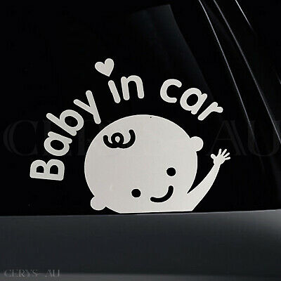 Baby In Car Board Reflective Car Vinyl Decal Sign Sticker Child on Board Signs