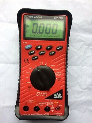 Mac Tools EM720 Automotive Digital Multimeter  Case Accessories Instructions