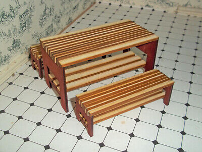 DH Kit -  Modern Table and Bench Kit 1:12th Dolls House