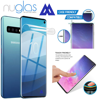 NUGLAS Samsung Galaxy S10 Plus Pet Film TPU Full Cover Screen Protector Genuine