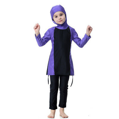 Girls Child Muslim Islam Swimwear 6 - 7 Year Old Bath Swimsuit Full Cover Beach