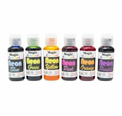 ANY 6 - YOU CHOOSE - Magic Colours Neon Gel Paste Food Colours Cake Decorating