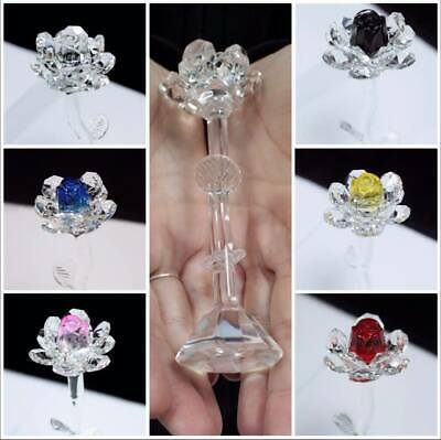Crystal Rose Ornament Mothers Day Gift Present - Clear, Pink, Yellow, Red, Blue