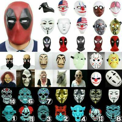 Karneval Faschings Maske Cosplay Masken Damen Herren Kopfmaske Spiderman Clown