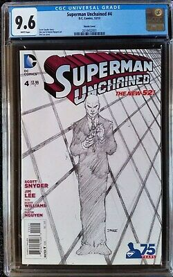 Superman Unchained (2013 DC) #4 Lee Sketch Variant CGC 9.6 1:300