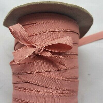 Vintage Pink Cotton Ribbon Double Weave Strong $1 p/yard