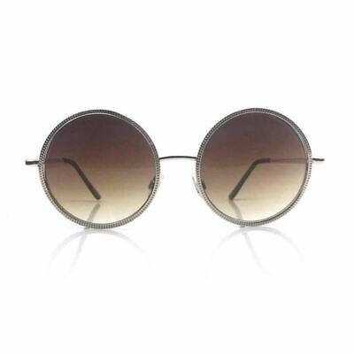 c632d8cd03 RETRO VINTAGE ROUND Oval Oversized Women Sunglasses - Silver Lens ...