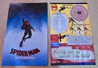 2 New original promo posters SPIDER-MAN into the spider verse 11 x 17