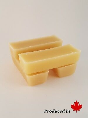 100% Pure Canadian Beeswax 4 - 1oz bars (4oz total) Cosmetics, crafts & more.
