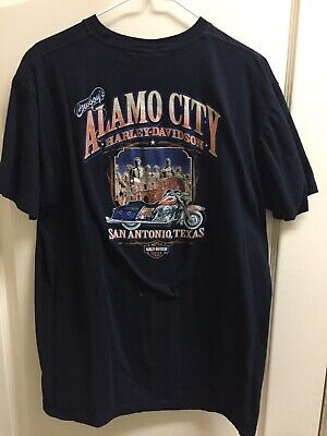 Harley Davidson Motorcycles Alamo City San Antonio Texas Two-Sided Mens XL Shirt