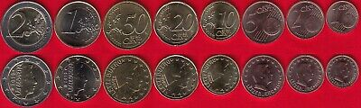 Luxembourg euro full set (8 coins): 1 cent - 2 euro 2019 UNC