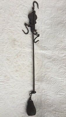 "Antique Vintage Cast Iron Balance Scale 17"" Star Industrial/Country Decor"