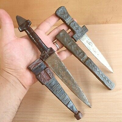 27# Two Old Antique African Tuareg Daggers