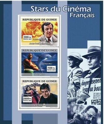 Guinea 2007 Sheet Mnh Stars Of French Cinema Actors Cine Actores 5