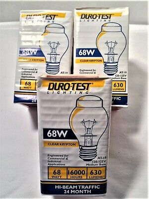 3 (Three) - Durotest Traffic Light Bulbs 68 Watt New Old Stock