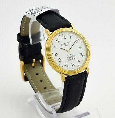 FAVRE LEUBA Geneve quartz gold plated Swiss made watch Caliber ETA 955 412, date